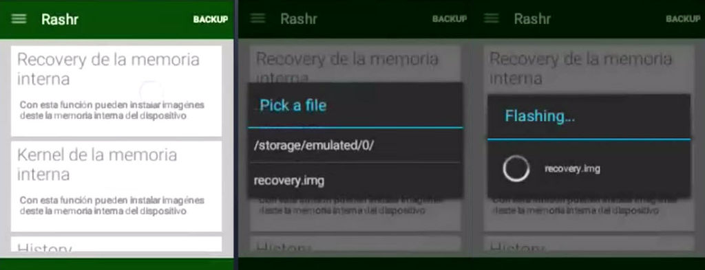 instlar recovery sin pc en android rashr1