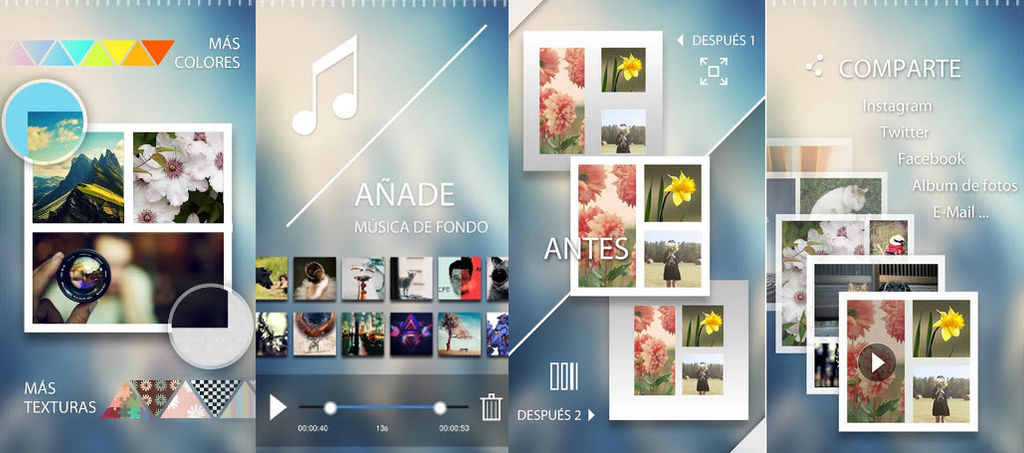collage con fotos y videos android1