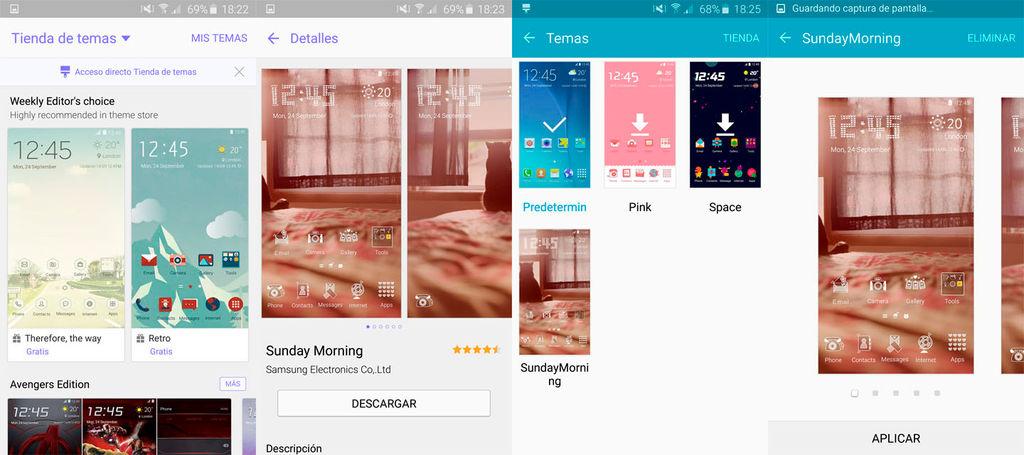 Descargar nuevos temas Galaxy S6
