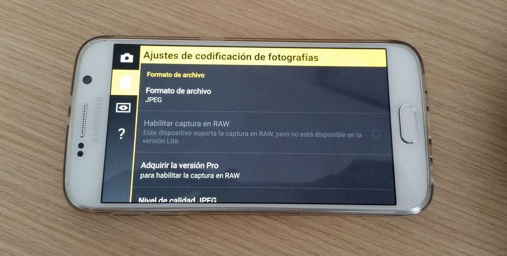 Fotos RAW Galaxy S6