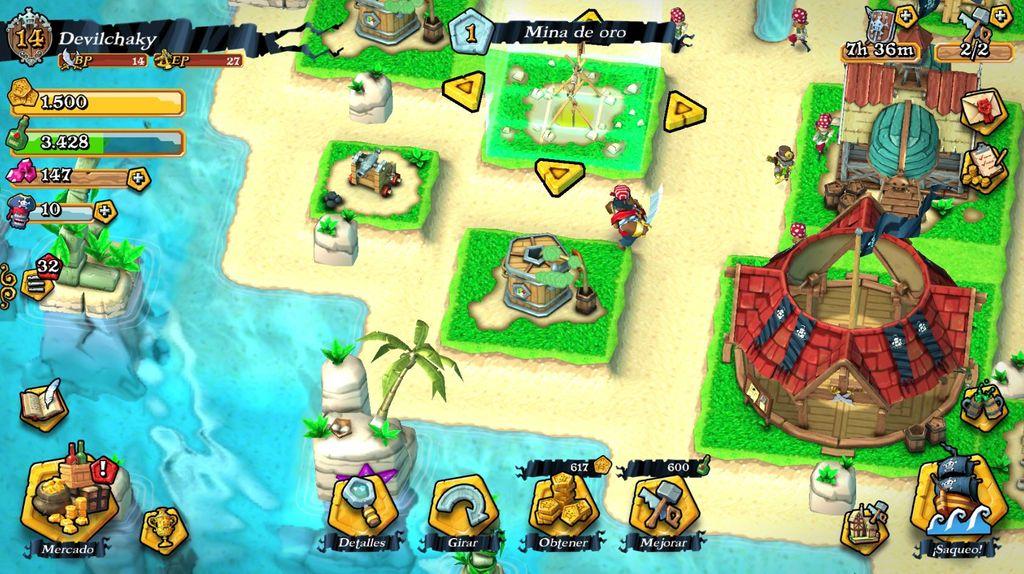 Mapa inicial de Plunder Pirates