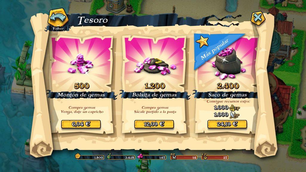 Tesoro en Plunder Pirates