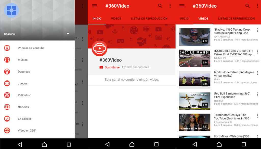 ver videos 360 youtube android1