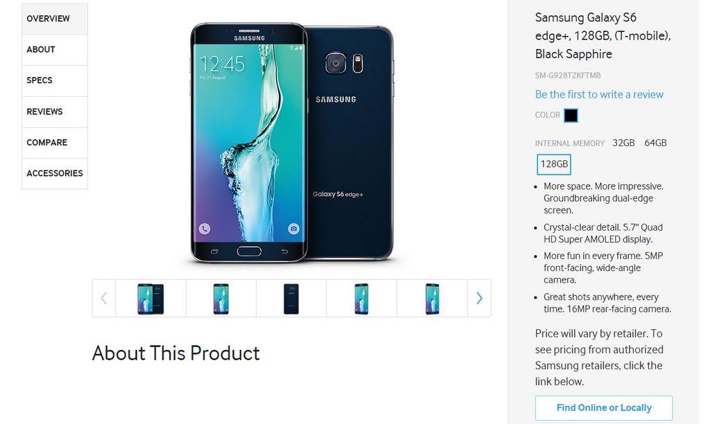 S6 Edge Plus y Note 5 de 128 GB