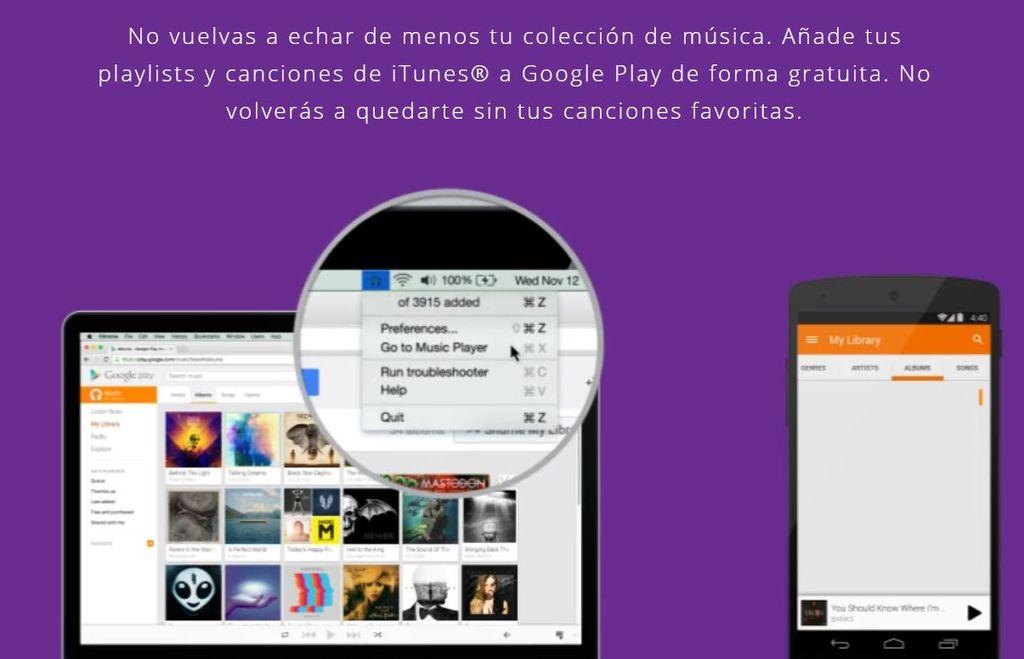 Escuchar iTunes en Android