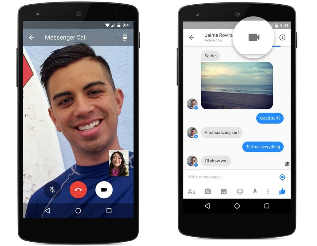 Videollamadas en Facebook Messenger