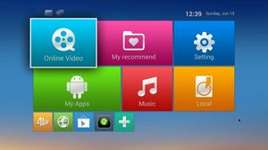Android TV Box M8 Amlogic s802-menu