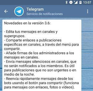 telegram 2 6 novedades