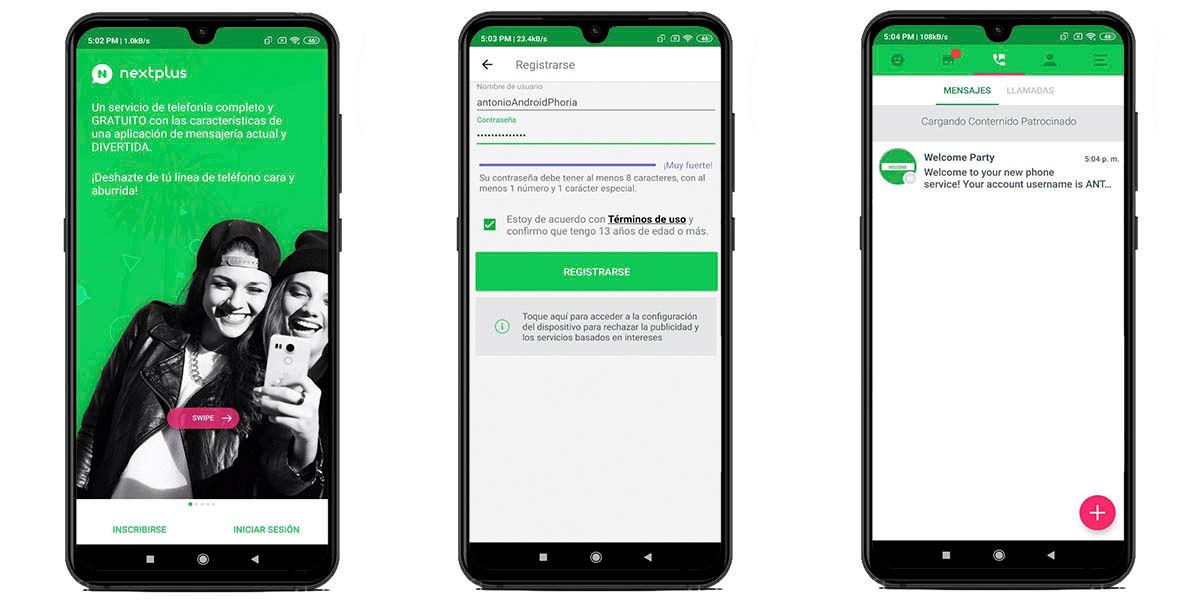 Cómo crear un número en Nextplus para WhatsApp