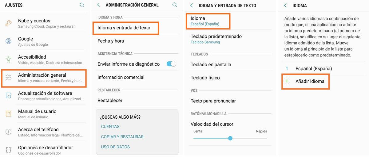 Cambia el idioma en tu Samsung