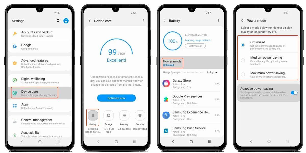 ahorrador de energia Samsung