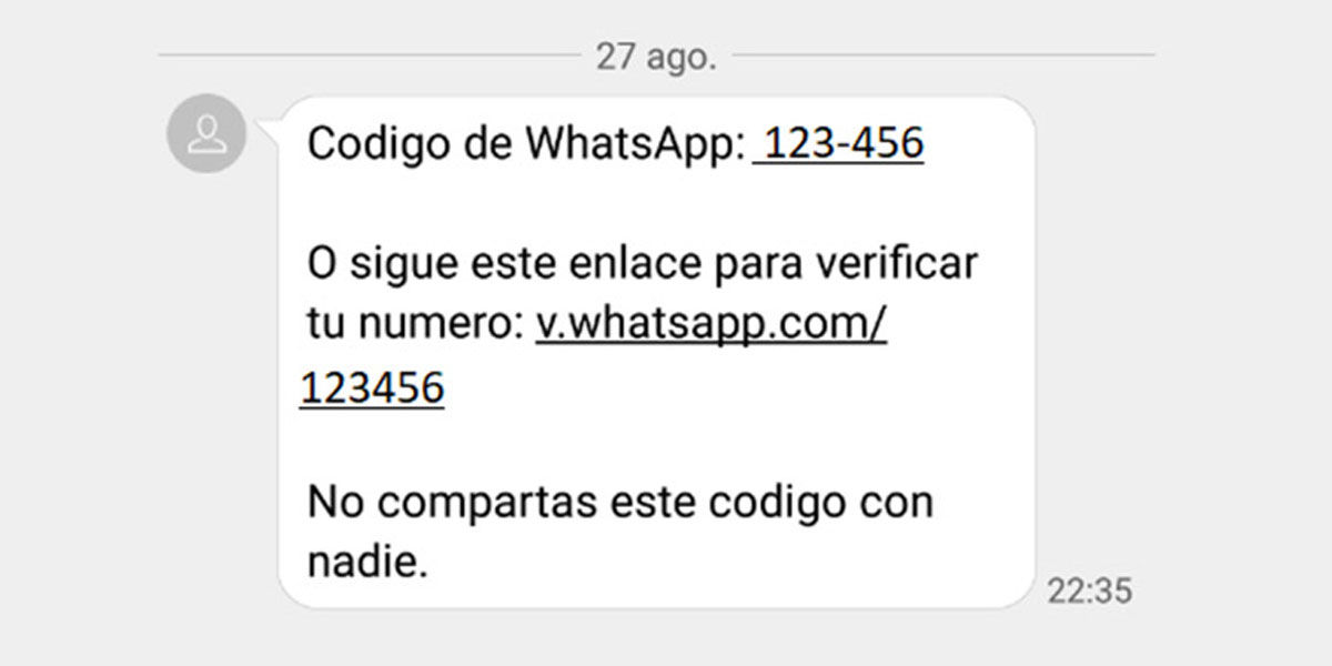 El código de verificación de WhatsApp que pueden usar para robar tu cuenta