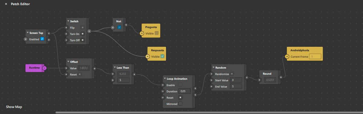 configurar comandos de animacion filtro ar