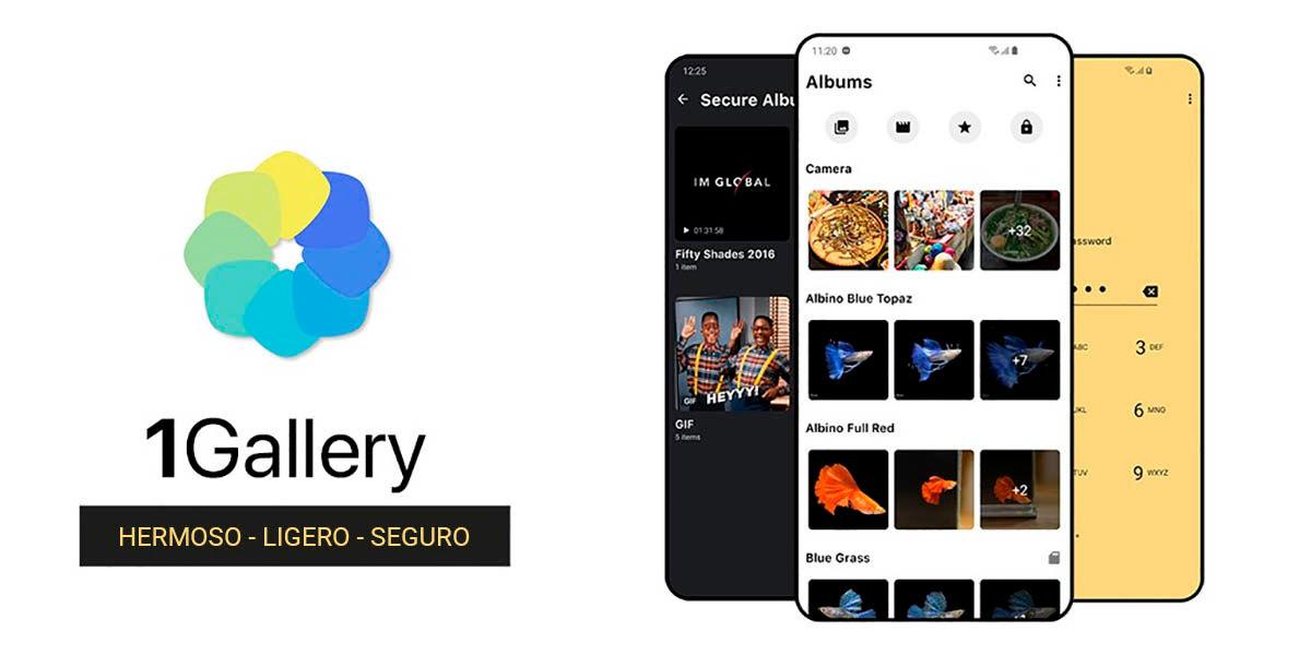 1Gallery app Android con cajón privado seguro