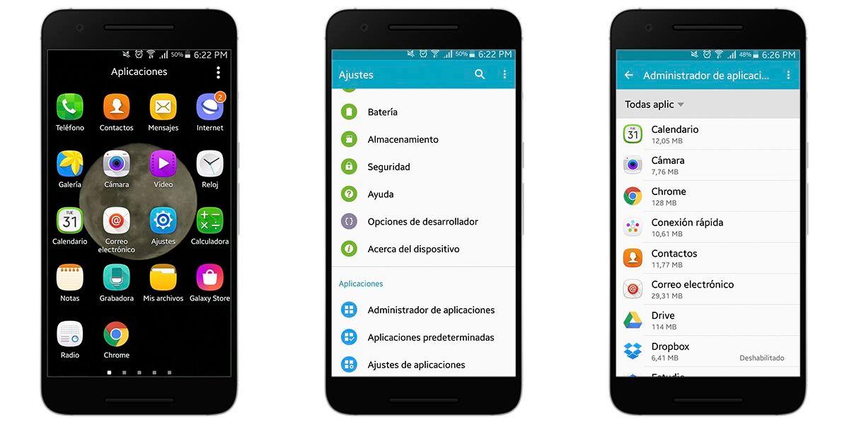 Cómo borrar la memoria caché en Android 6