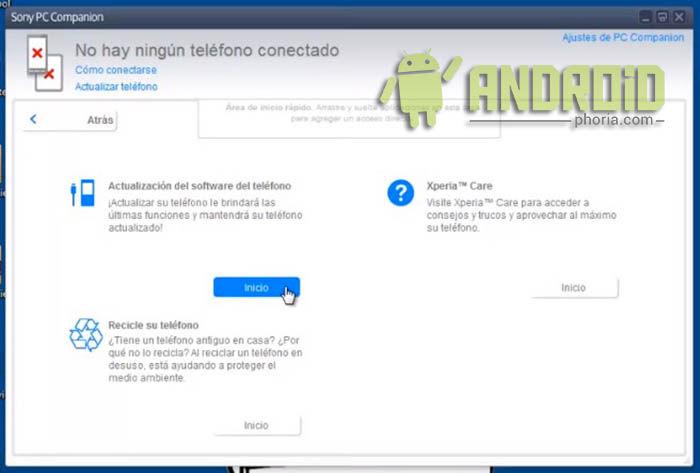 2 - Actualización del software del teléfono