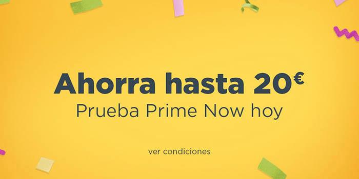 20 euros Amazon Prime Now