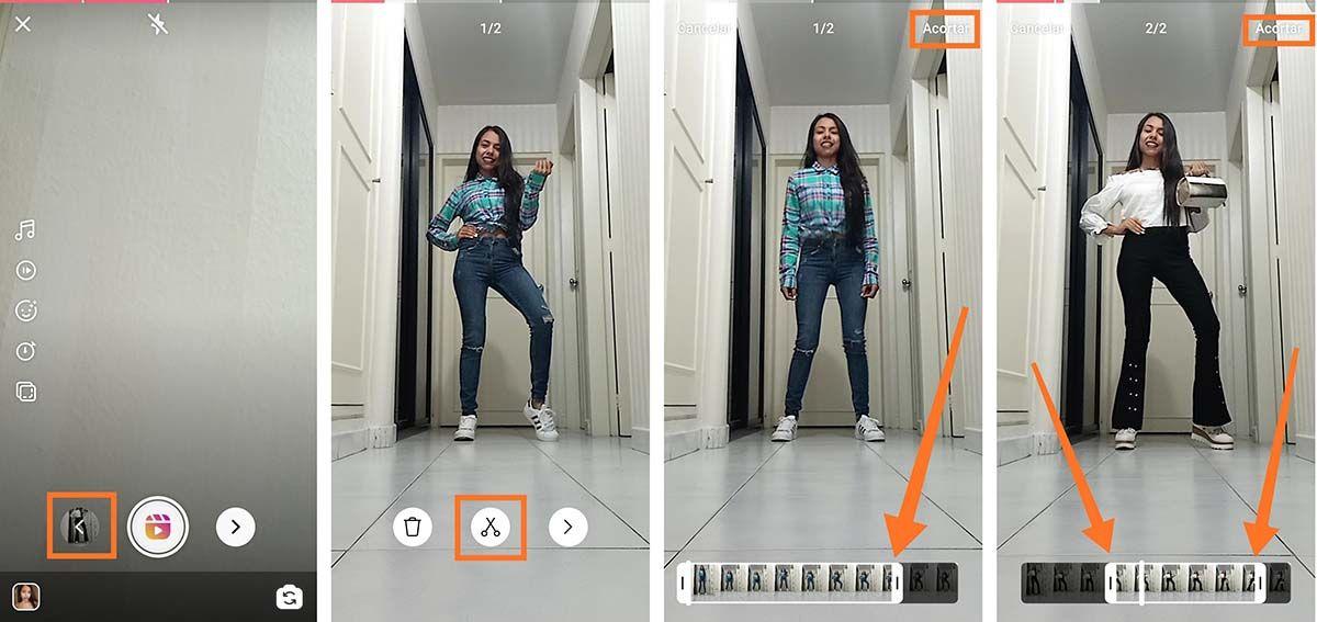 3 Efecto cambio de ropa instantaneo con Instagram Reels