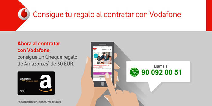 30 euros Amazon regalo Vodafone