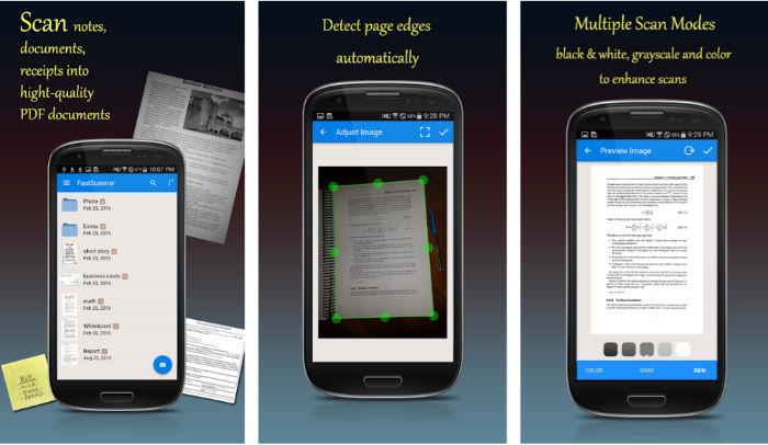 5 Mejores apps Android para escanear documentos