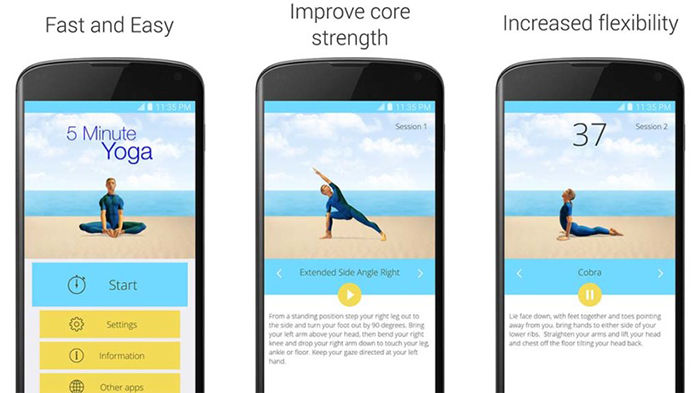 5 Minute Yoga para Android