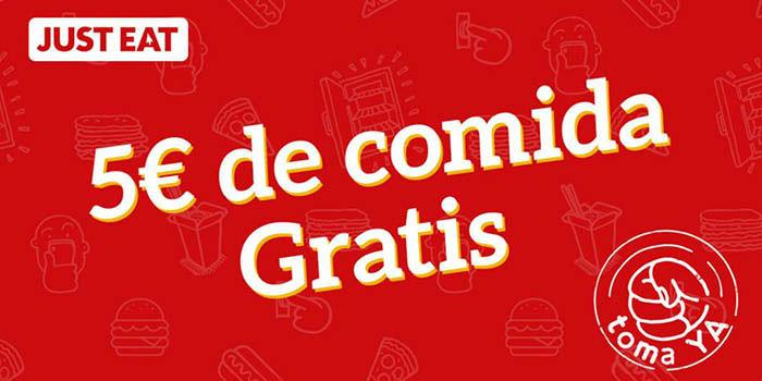 5 euros gratis Just Eat