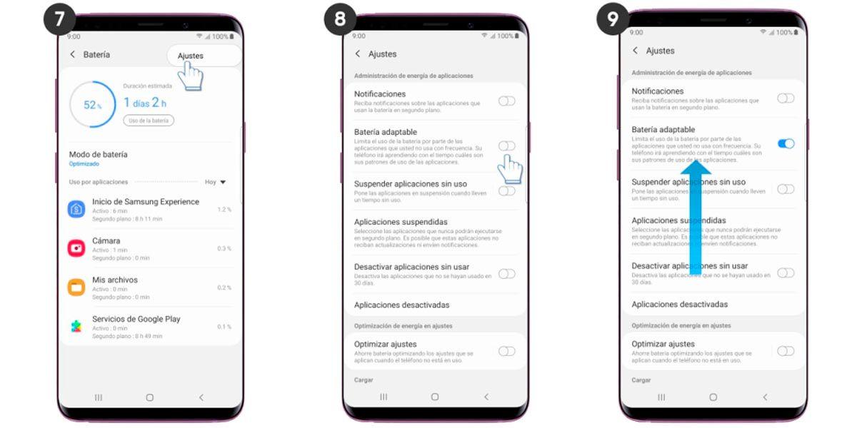 Activar bateria inteligente One UI