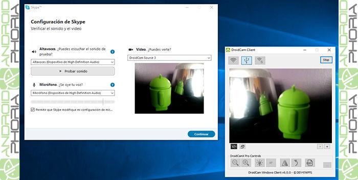 convertir movil en webcam