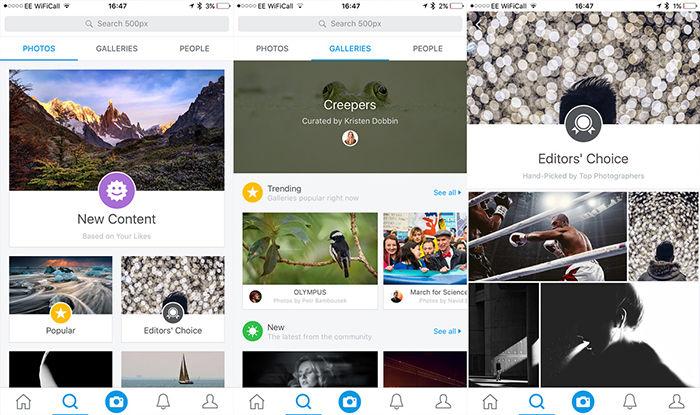 500px alternativas a Instagram