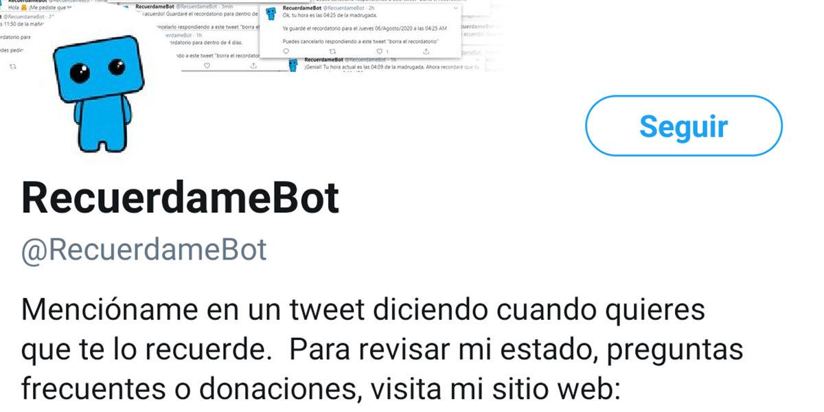 Recúerdame Bot
