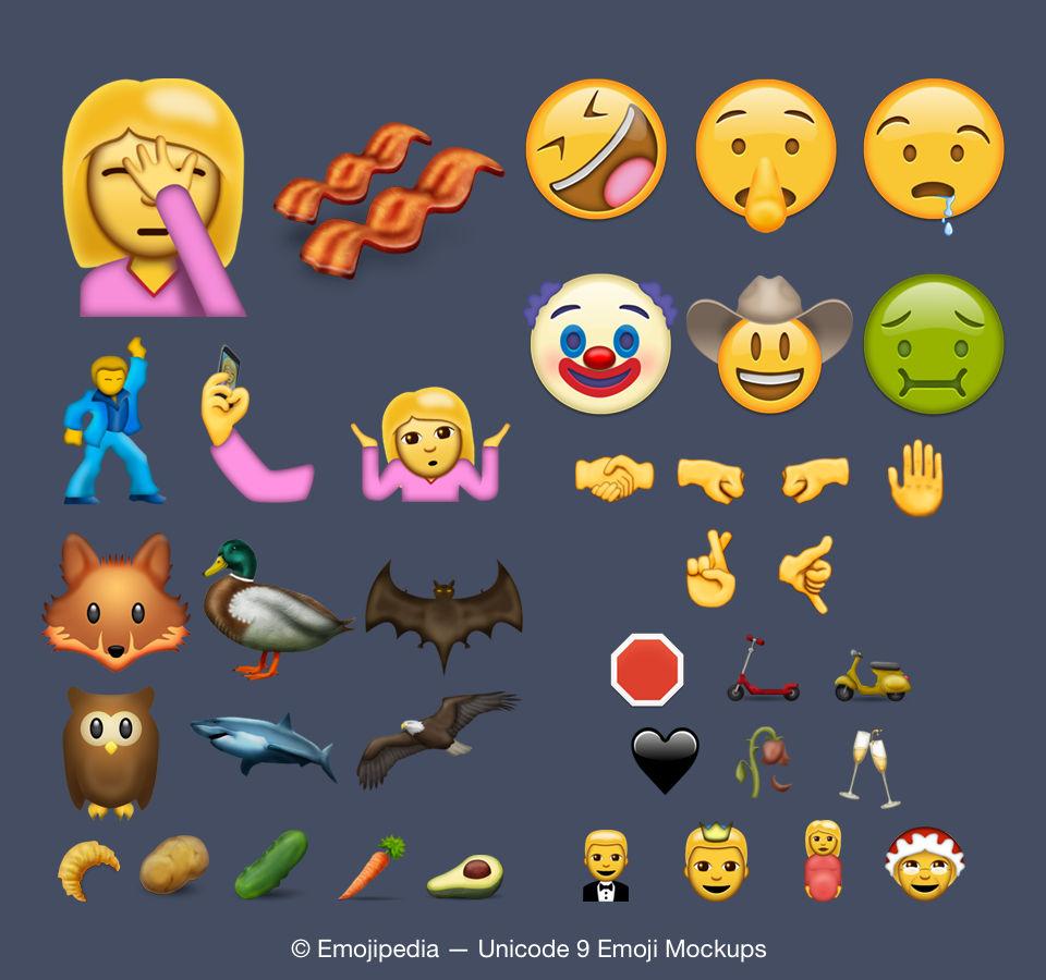 74 nuevos emojis para el 2016