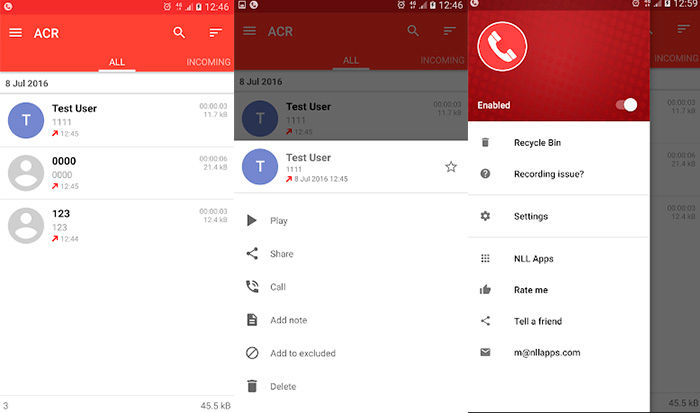 ACR Call Recorder Android gratis