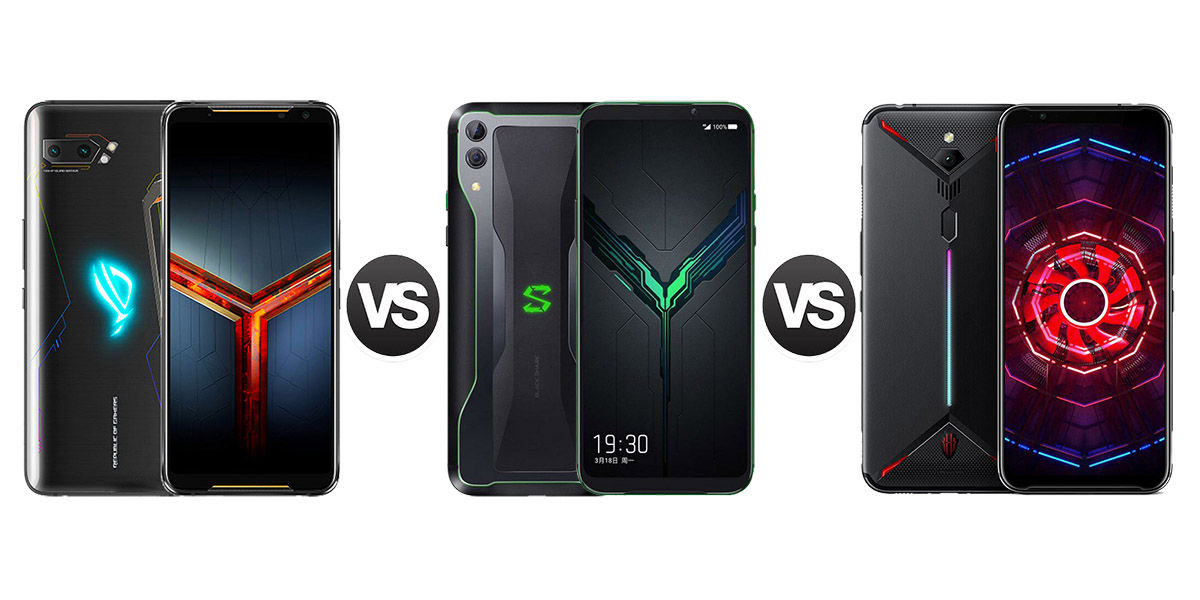 ASUS Rog Phone 2 vs Black Shar 2 vs Red Magic 3