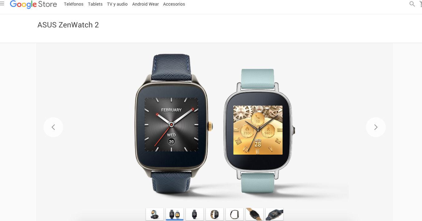 ASUS ZenWatch 2 en Google Store próximamente