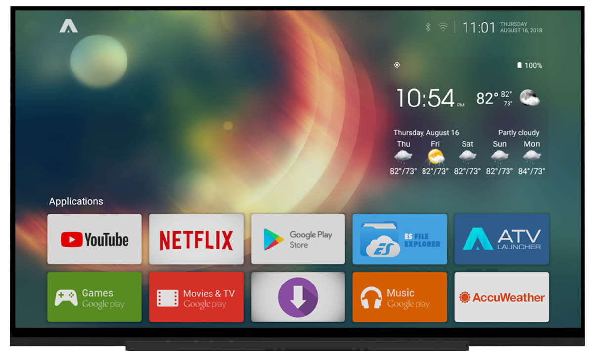 ATV launcher para Android TV más personalizable