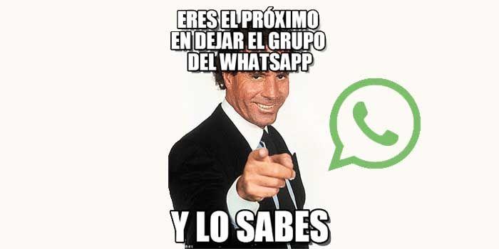 Abandonar grupo WhatsApp