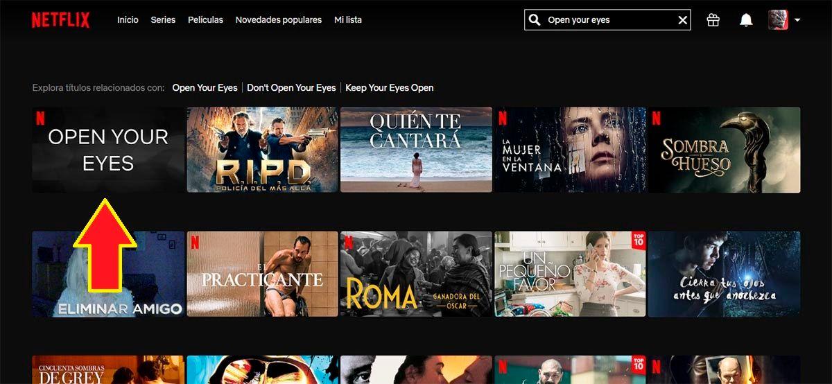 Open your eyes Netflix