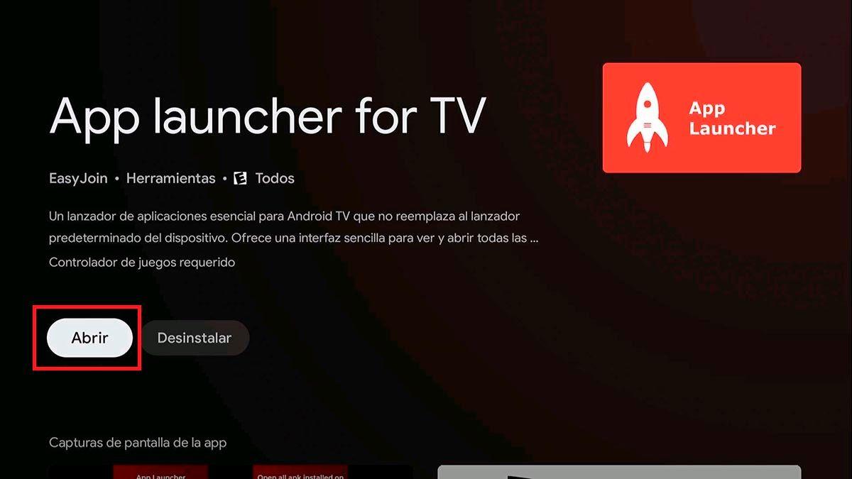 Abrir App Launcher for TV