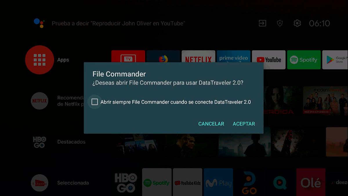 Abrir File Commander