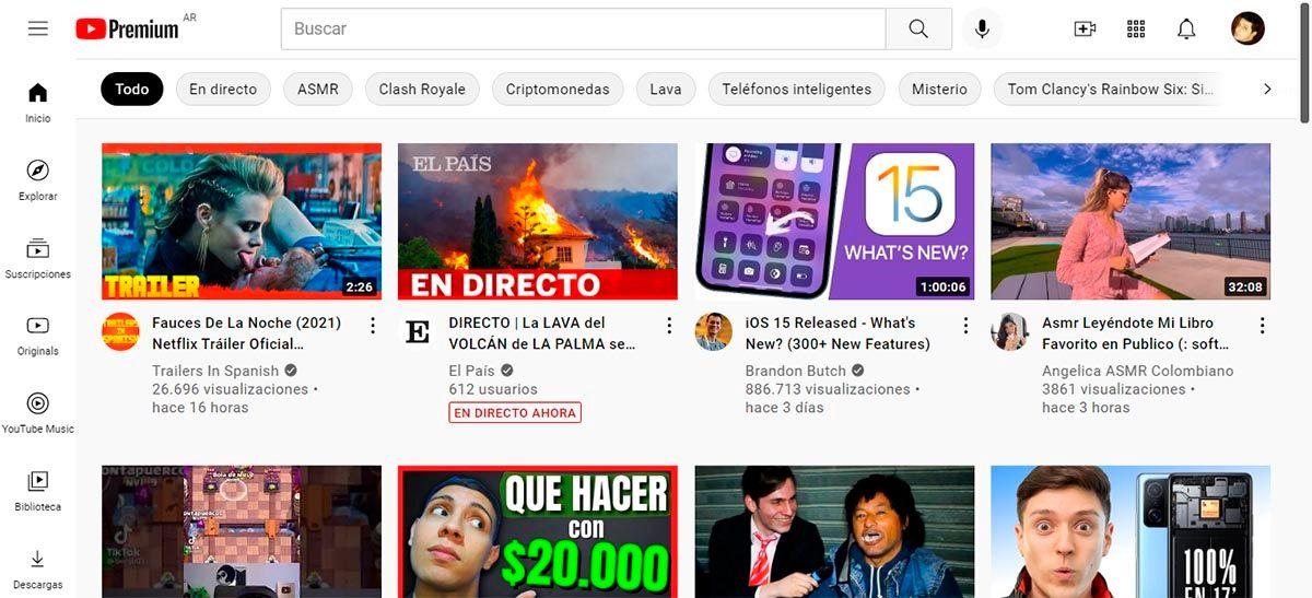 Abrir YouTube en PC usando el navegador