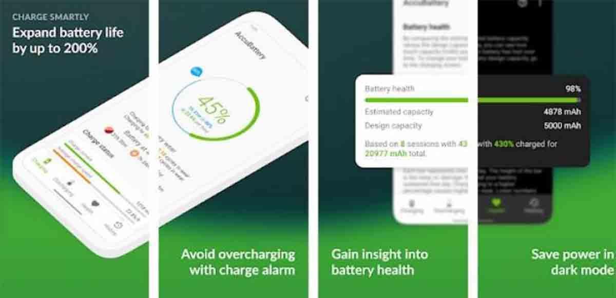 AccuBattery mide salud batería móvil