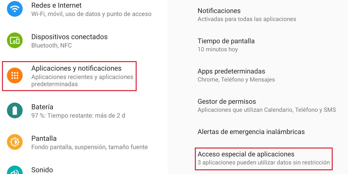 Acceder a aplicaciones en Android