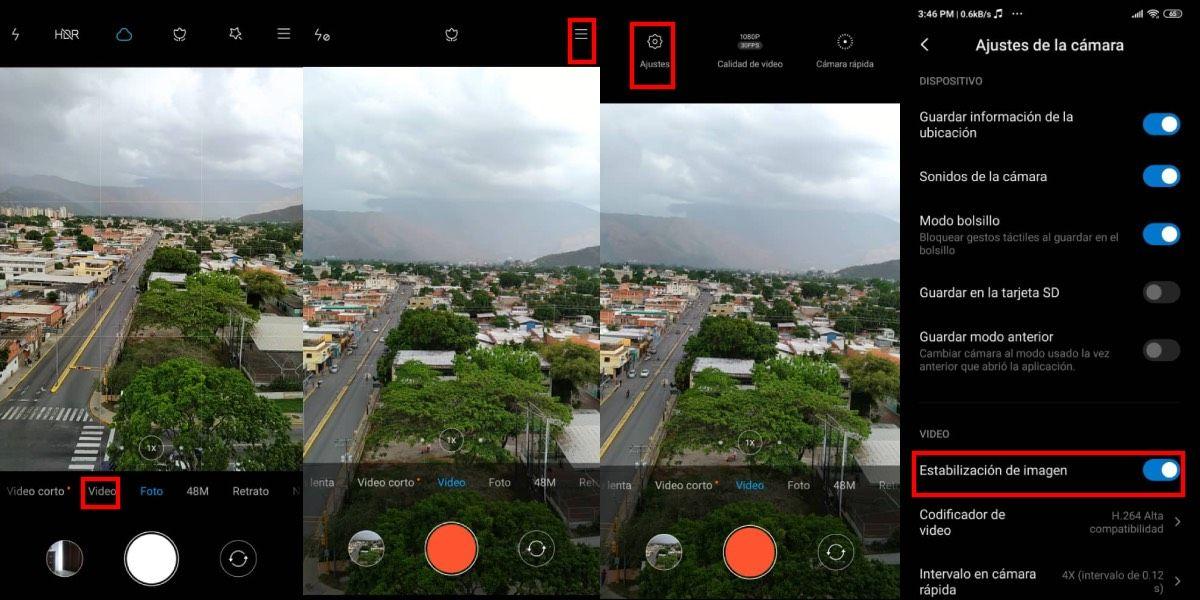 Activa el estabilizador de imagen en Xiaomi