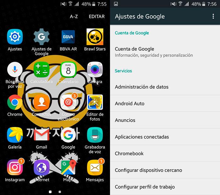 Activar buscar mi dispositivo Android Paso 1