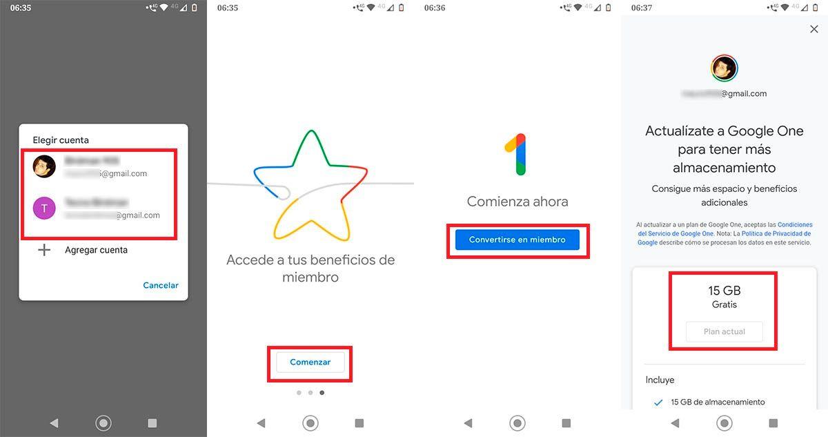 Activar copia de seguridad gratuita Google One
