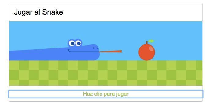 Activar juego de la serpiente de Google