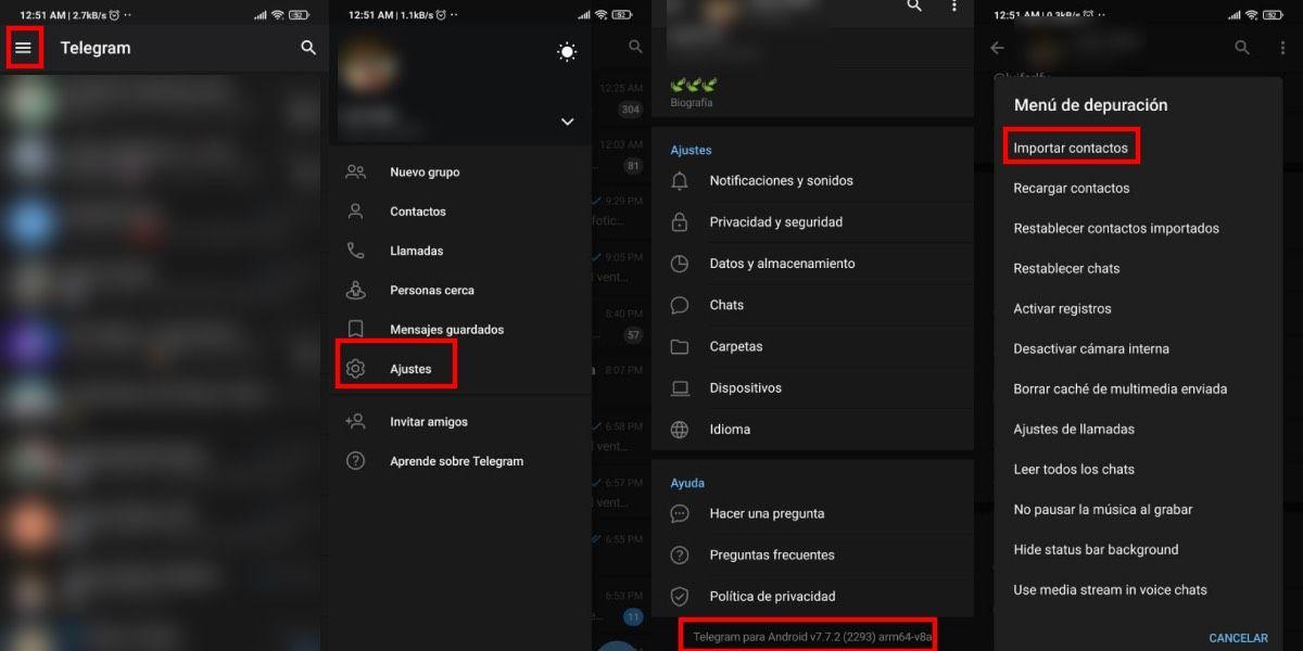 Activar las opciones para Android en Telegram