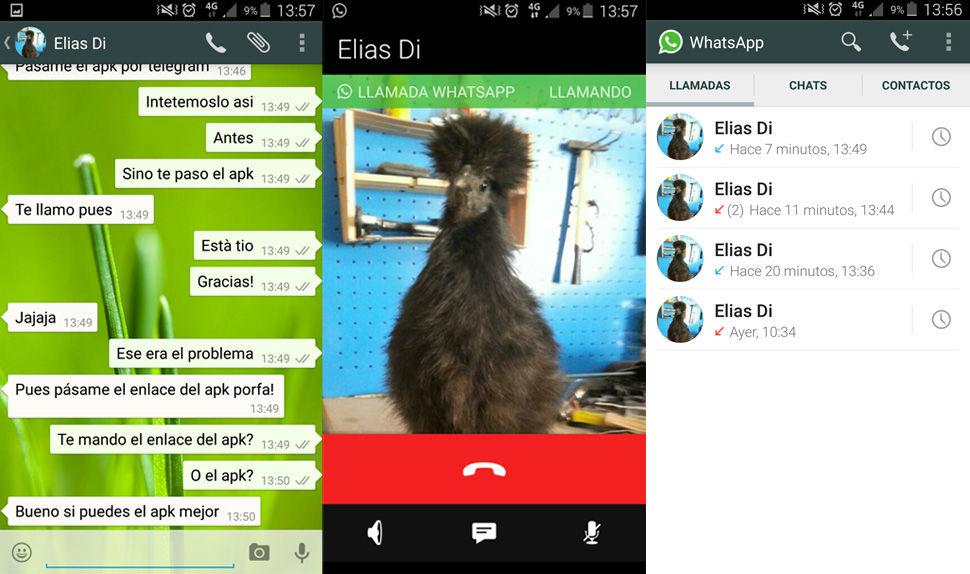 Activar llamadas en WhatsApp