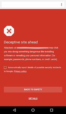 Activar navegación segura en Chrome para Android