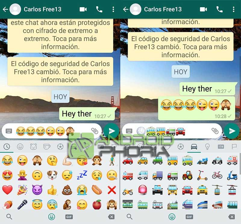 Activar nuevos emoticonos WhatsApp diferentes ios